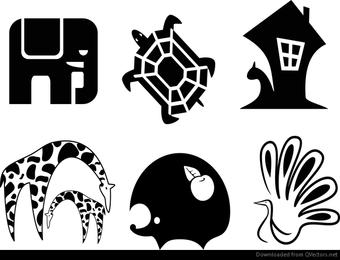 vector de animales abstractos