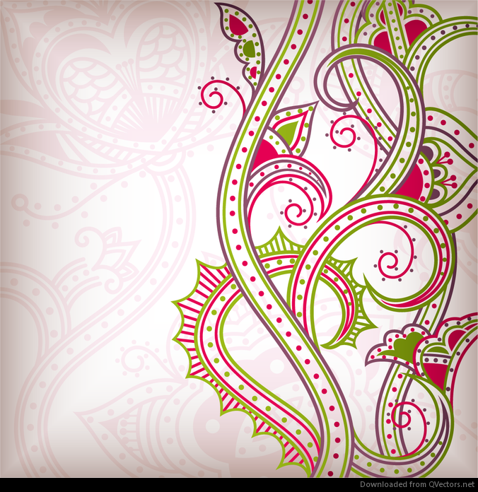 Abstract floral pattern background 02 vector - Vector download