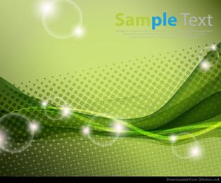 Grüner abstrakter vektorhintergrund