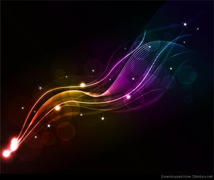Arte abstracto de la onda del vector