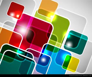 Abstrakter überschneidender Quadrat-Vektor-Hintergrund