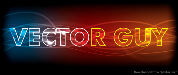 Neon Glowing Abstract Text Effect