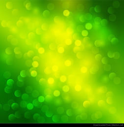 Abstract Green Light Bokeh Background Vector Graphic