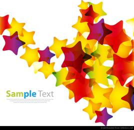 Resumen estrellas coloridas vector de fondo