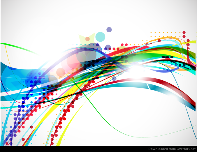 Abstract Volleyball On Colorful Wave Background: Vector Colorful Abstract Wave Design Background
