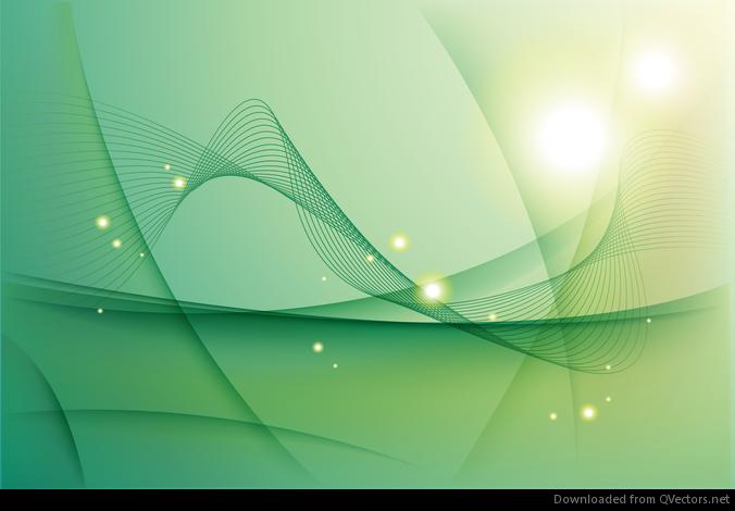 Resumen de vectores de fondo Ondas verdes - Descargar vector