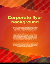 Corporate flyer background