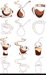 Resumen gráfico vectorial 1 café