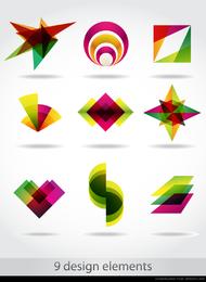 símbolo abstracto gráficos 04 vector
