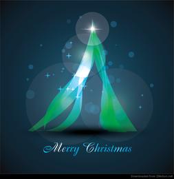 Abstract Glowing Christmas Tree Vector Art
