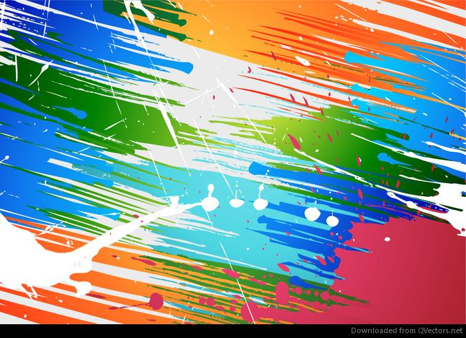 Abstractos del cepillo de pintura de fondo salpicaduras de vectores descargar vector - Salpicaduras de pintura ...