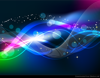 Abstract Wave Color Light Background Vector