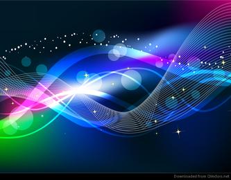 Abstrato onda cor luz de fundo vector
