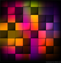 Abstract Geometric Background with Colorful Squares