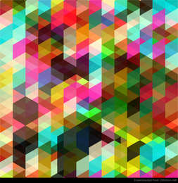Arte abstracto de vector de color