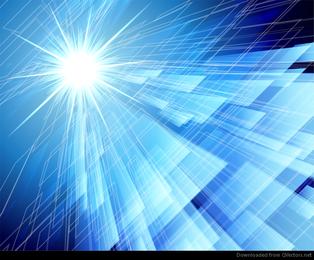 Fundo azul de abstração no estilo de alta tecnologia