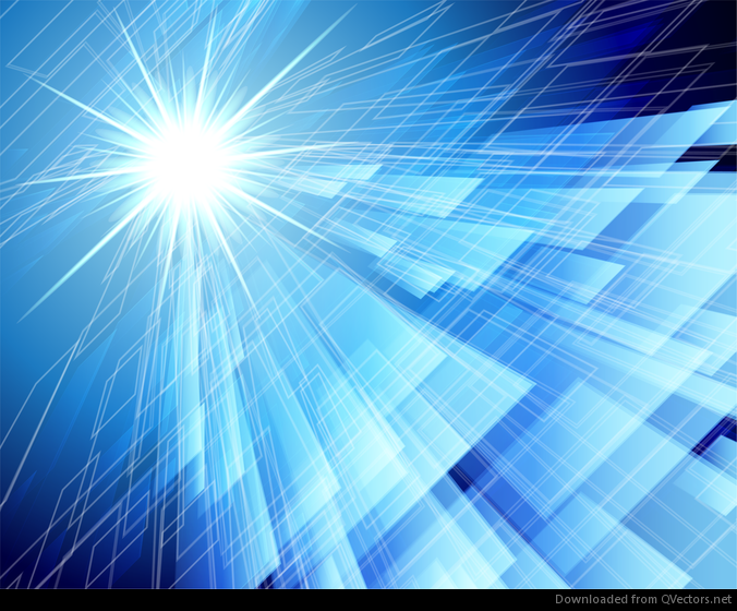 Abstraction Blue Background in High-Tech Style - Vector ...