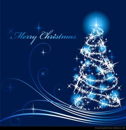 Ilustración abstracta del vector del árbol de navidad
