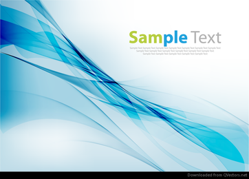Abstrato azul onda Design Vector Graphic
