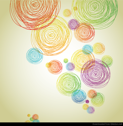 Abstract Pencil Scribble Background Vector
