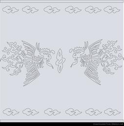 padrão clássico chinês vector phoenix resumo
