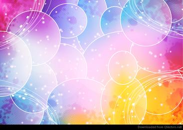 Gráfico abstracto colorido del fondo del vector