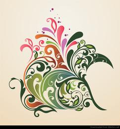 Resumen diseño floral ornamento fondo Vector Graphic
