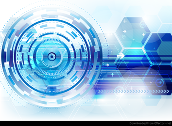 Abstract Technical Background Vector Graphic
