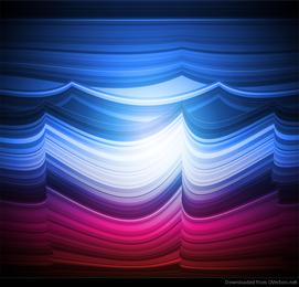 Arte abstracto colorido del fondo del vector de onda