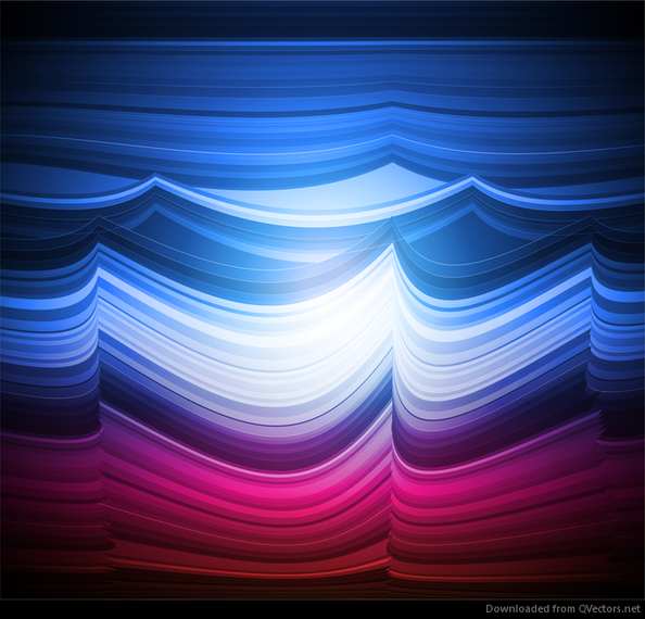 Abstract Colorful Wave Vector Background Art