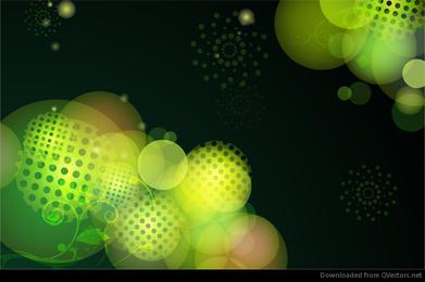 Abstract Green Bokeh Design Vector Background