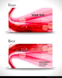 dynamic abstract business card templates vector