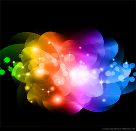 Abstract Colorful Glowing Background Vector Graphic