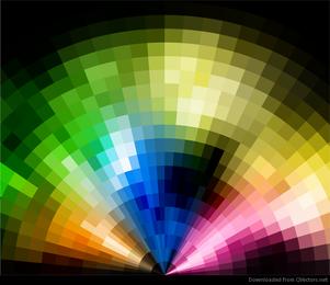 Fondo colorido abstracto del disco