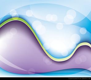 Fantasía abstracta onda fondo gráfico vectorial