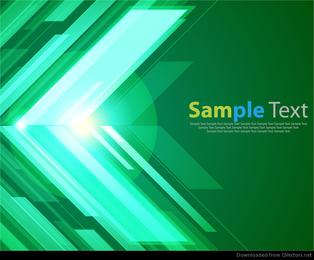 Fondo abstracto verde con gráfico vectorial brillante