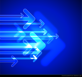 Abstract Technology Arrows Vector Graphic
