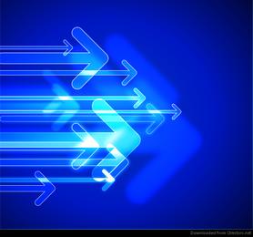 Tecnología abstracta flechas vector gráfico