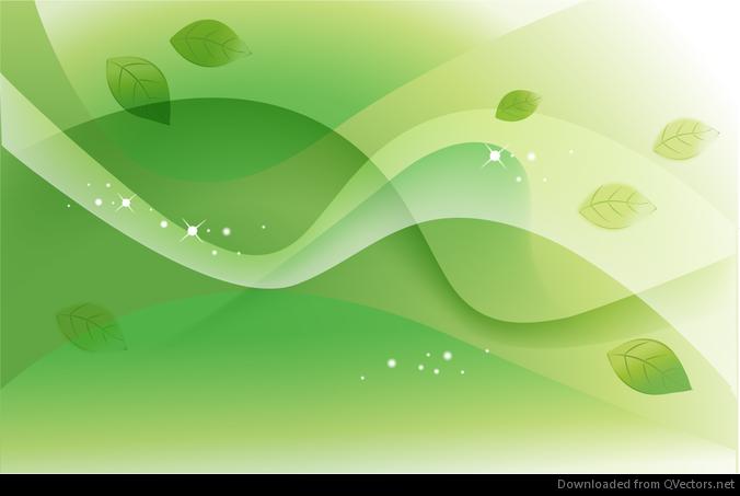 Resumen de primavera verde vector de fondo