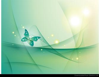 Fondo abstracto con mariposa Vector