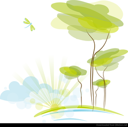 Abstract Nature Background Vector Illustration