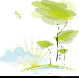 Fondo de naturaleza abstracta ilustración vectorial