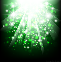 Green Bokeh Abstract Light Ilustração Vetor Fundo