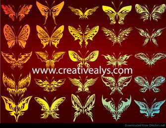 Siluetas gratis de bailarinas con fondo abstracto Ilustración vectorial