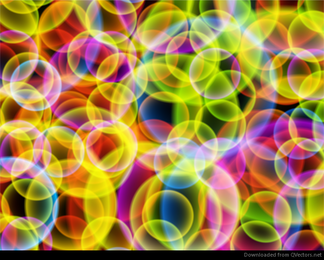 Abstract Colourful Bubbles Vector Background