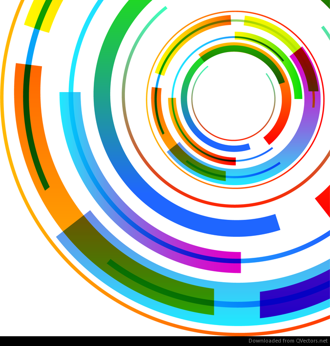 abstract technology circles vector background - vector download