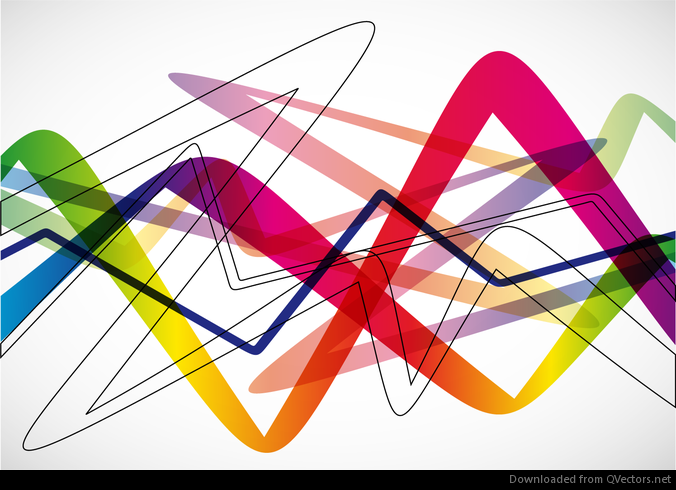 Abstract Volleyball On Colorful Wave Background: Abstract Colorful Wave Background Vector Illustration
