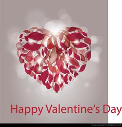 Corazón abstracto para el día de San Valentín
