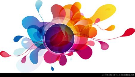 Fondo abstracto Vector colorido