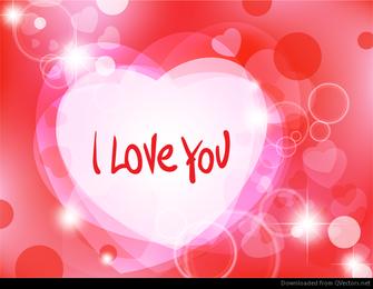 Abstrakter romantischer Hintergrund mit Herzen